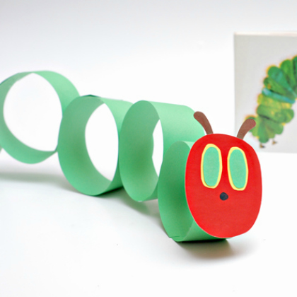 paper circles caterpillar