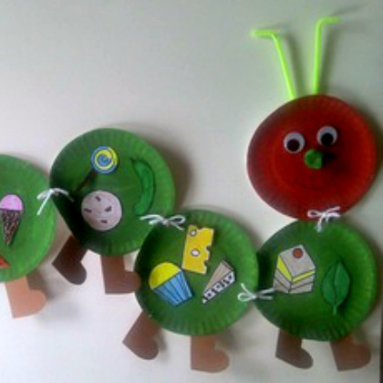 paper plate caterpillar & 25 Very Hungry Caterpillar Crafts for Preschoolers