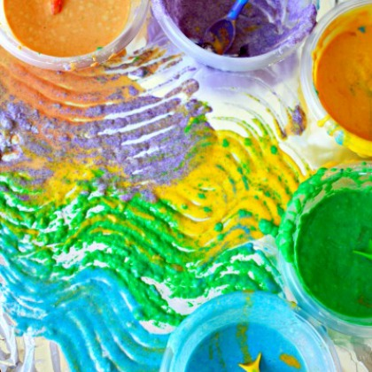 Playful Paint Recipe: Kool-Aid Sand Paint