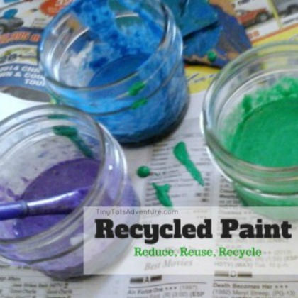 Playful Paint Recipes: Recycled Paint