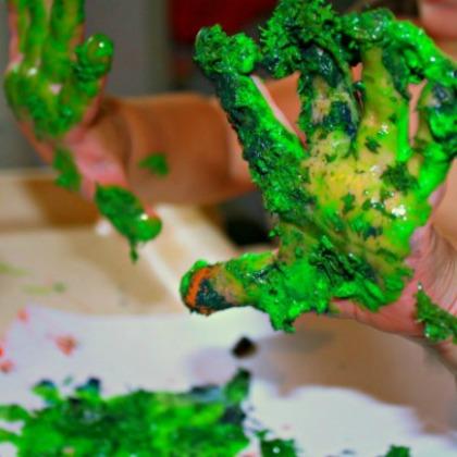 Playful Paint Recipes: Textured Finger Paint