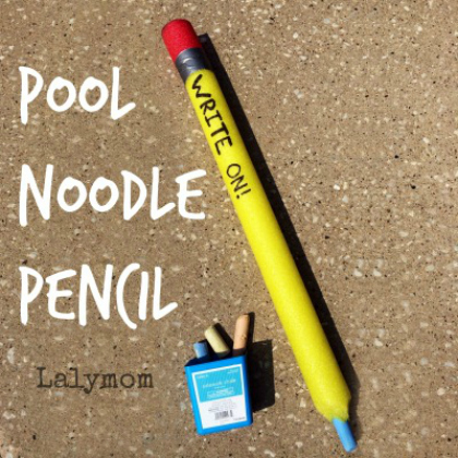 pool noodle pencil