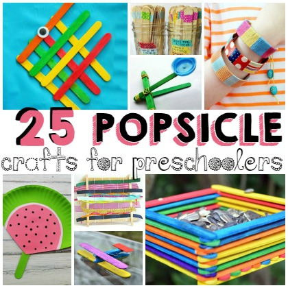 25 Popsicle Crafts for Preschoolers and kids of ages