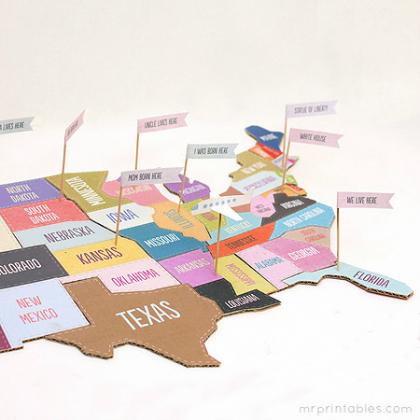 printable map puzzle