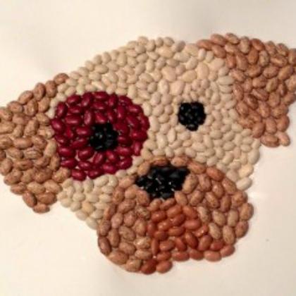 puppy mosaic