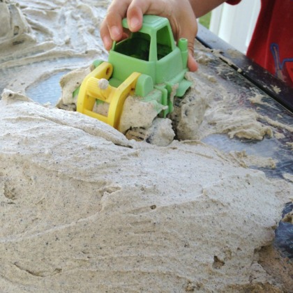 Sand Foam Play Idea