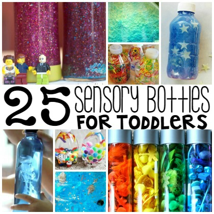 25 Sensory Bottles for Toddlers