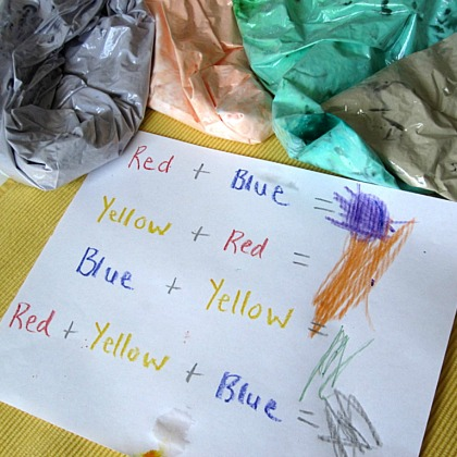 Color Mixing Shaving Cream Play Idea