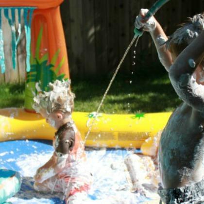 Shaving Cream in a Pool Play Idea
