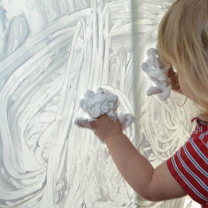 Window Shaving Cream Play Idea