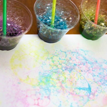 soap bubble art