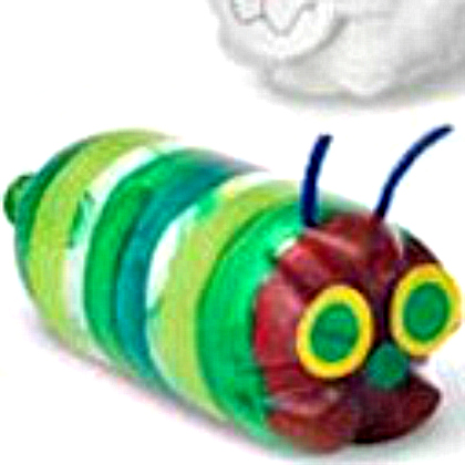 soda bottle caterpillar