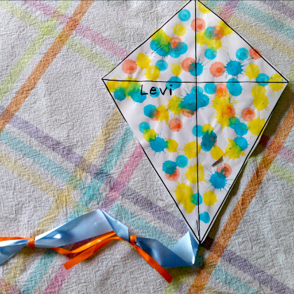 splatter paint kite