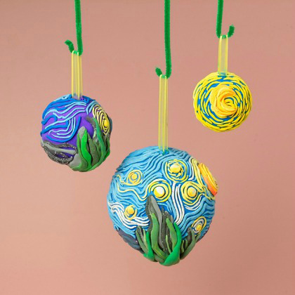 starry night ornaments