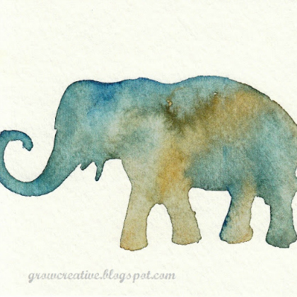 stencil elephant
