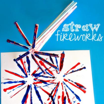 straw fireworks