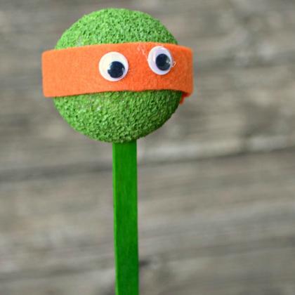 styrofoam ball puppet
