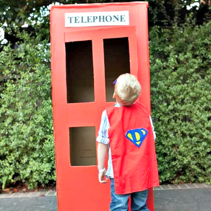 superhero phone booth