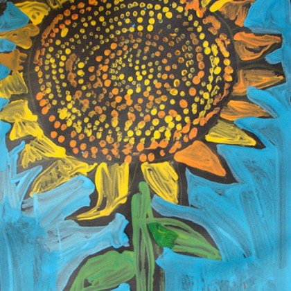 tempera sunflower