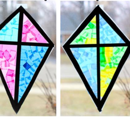 tissue paper kites