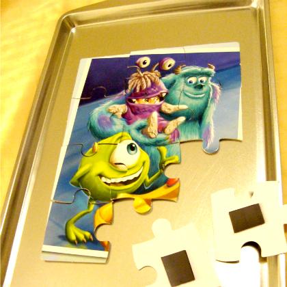 travel puzzle tray