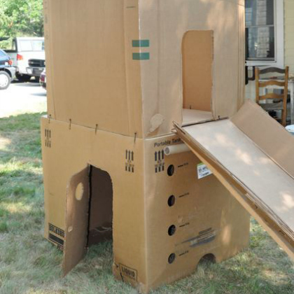 two story outdoor fort