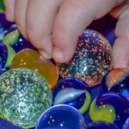 Water Beads and Marbles