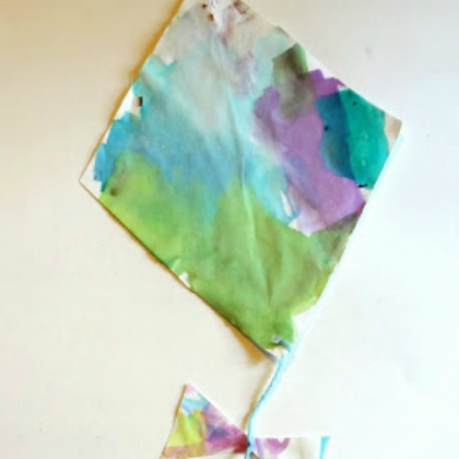 watercolor kite