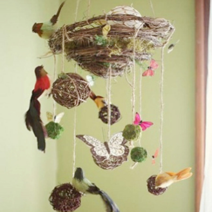 birds nest mobile