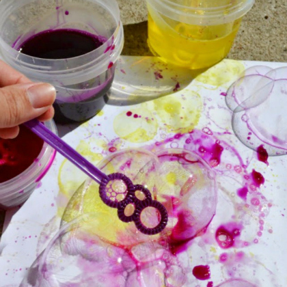 There Are So Many Awesome Ways To Tie Dye Try Using Colored Bubbles And Blow Them Onto A Piece Of Paper
