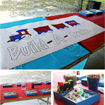build a train activity station