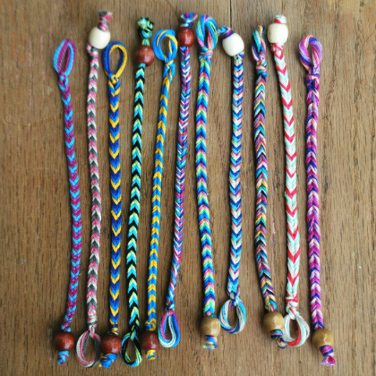 chevron pattern bracelets.