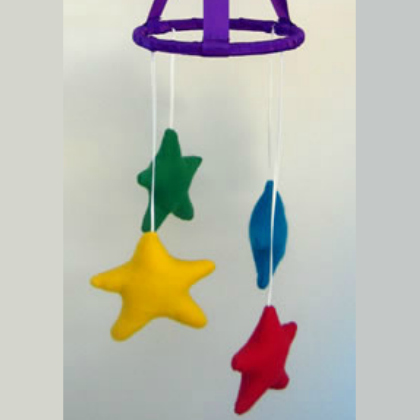 cloth stars mobile