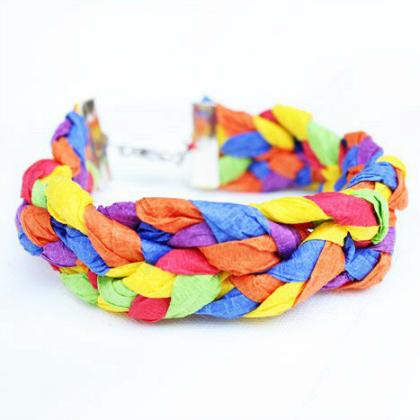 crepe paper bracelet