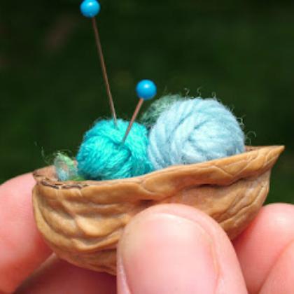 fairy knitting basket