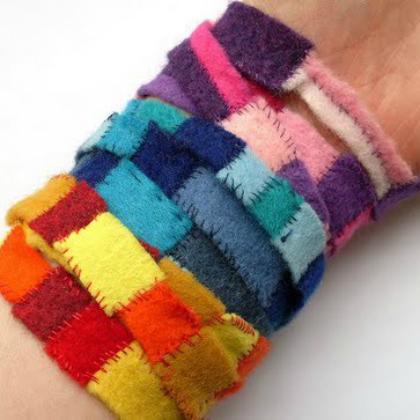 felt scraps bracelet