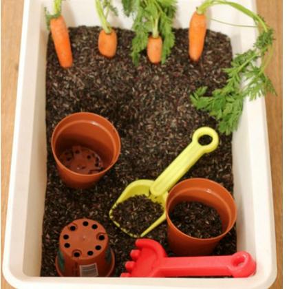 planting sensory bin
