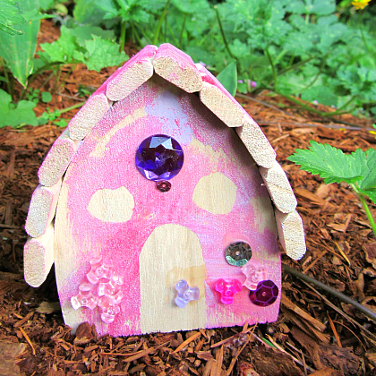 quick and easy fairy house