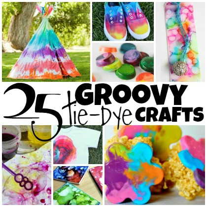 25 Groovy Tie Dye Crafts For Kids