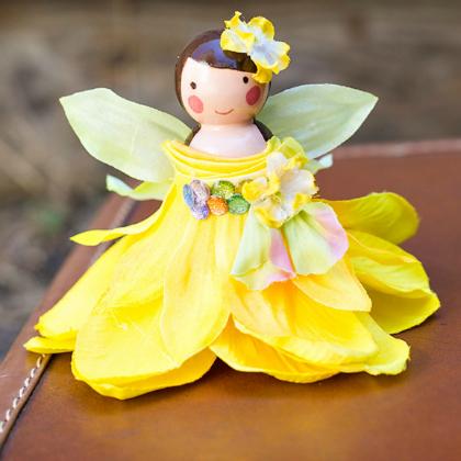 wooden peg fairy dolls