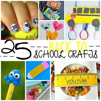 25 Back To School Crafts for Kids