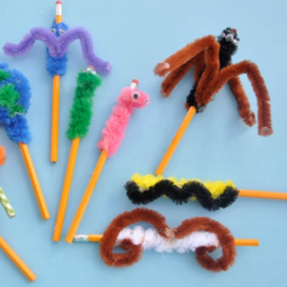 crazy pipe cleaner toppers