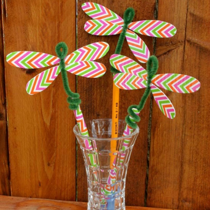 duct tape dragon fly toppers