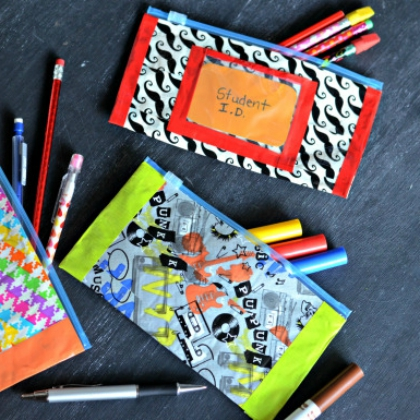duct tape pencil pouches