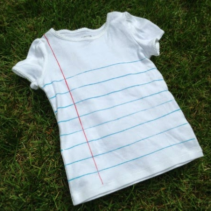 homemade notebook tshirt