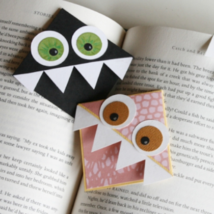monster corner bookmarks