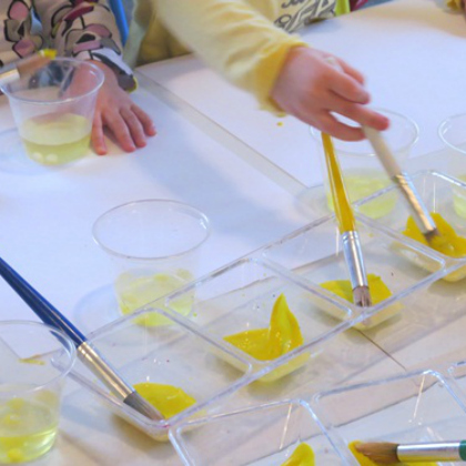 painting with lemon heads