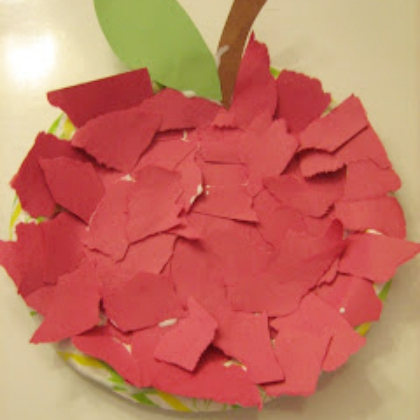 paper collage apple