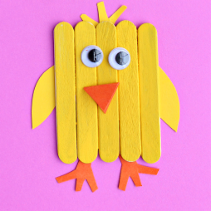 popsicle stick chick
