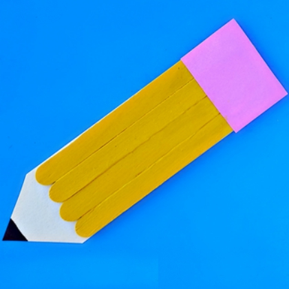 popsicle stick pencil